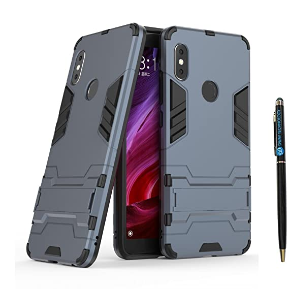 buy popular 306b7 8f9b6 DWaybox Redmi Note 5 Pro Armor Case 2 in 1 Heavy Duty Armor Hard Back Case  Cover with Kickstand for Xiaomi Redmi Note 5 Pro/Redmi Note 5 5.99 Inch ...