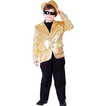 Dress up America Chaqueta de lentejuelas para niños, color dorado (739-S): Amazon.es: Juguetes y juegos