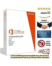 Microsoft Office 2016 Professional Plus pour 1PC (pour windows )   Licence Lifetime   Pas d'abonnement   Licence numérique originale Envoyé dans un jour par E-mail