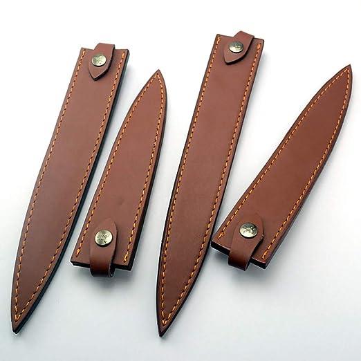 Cubiertas de piel para cuchillos de chef, resistentes fundas ...
