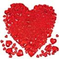 700 Pcs 2 Sizes Red Acrylic Hearts Charms Crystal Heart Shaped Diamond Gems Valentines Decorative Heart Gems for Valentine's Day Wedding Anniversary Party Vase Fillers Table Scatters