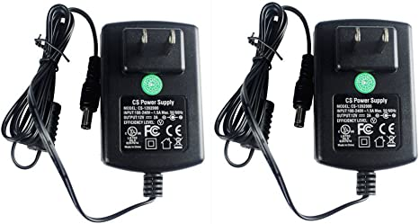 Wall Plug Super Power Supply AC // DC 12V 2A 4 Pack 4 Pieces 2000mA Adapter Charger Cord For CCTV Cameras
