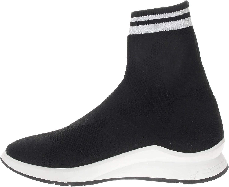 Crime London Sneaker Chaussettes pour Femme Noir