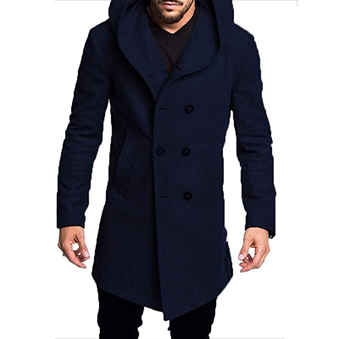 Amazon.com: Sex Eden - Abrigo de lana para hombre, chaqueta ...
