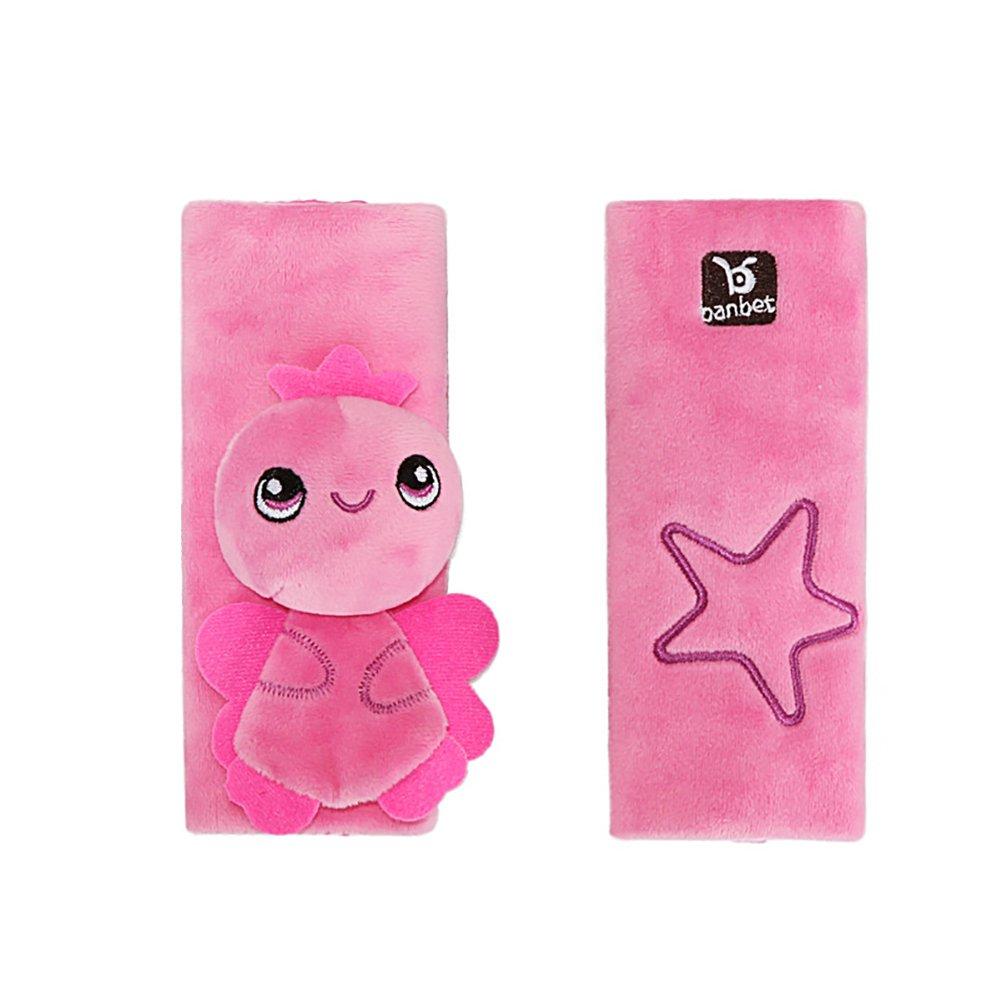 Vi.yo Cartoon Animal Soft Harness Baby Car Seat belt Strap Covers Shoulder Pads size 16cm*16cm (Black)