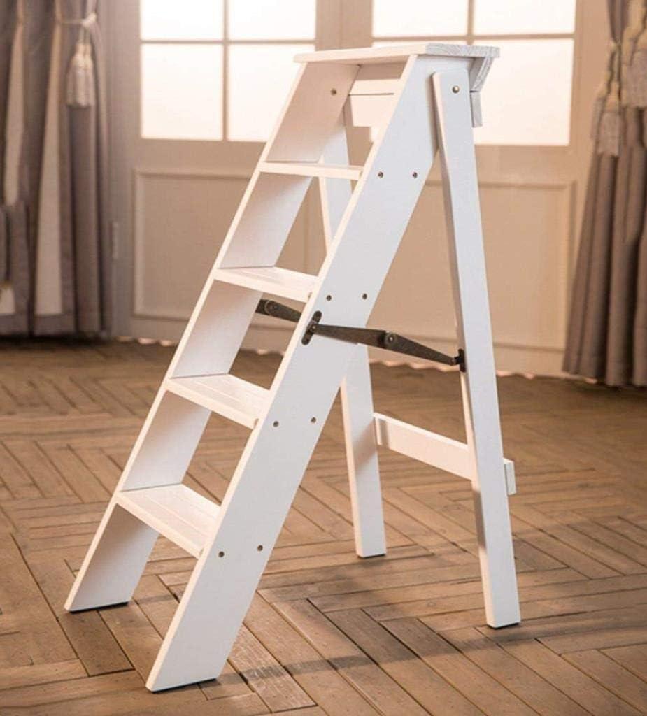 ZfgG - Escalera de 3 peldaños para escalones de cocina, plegable, con escalones antideslizantes, estilo de madera escandinava de aluminio: Amazon.es: Bricolaje y herramientas