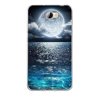 FUBAODA Funda Huawei Y5 II, [Gran Luna] Funda de Silicona ...