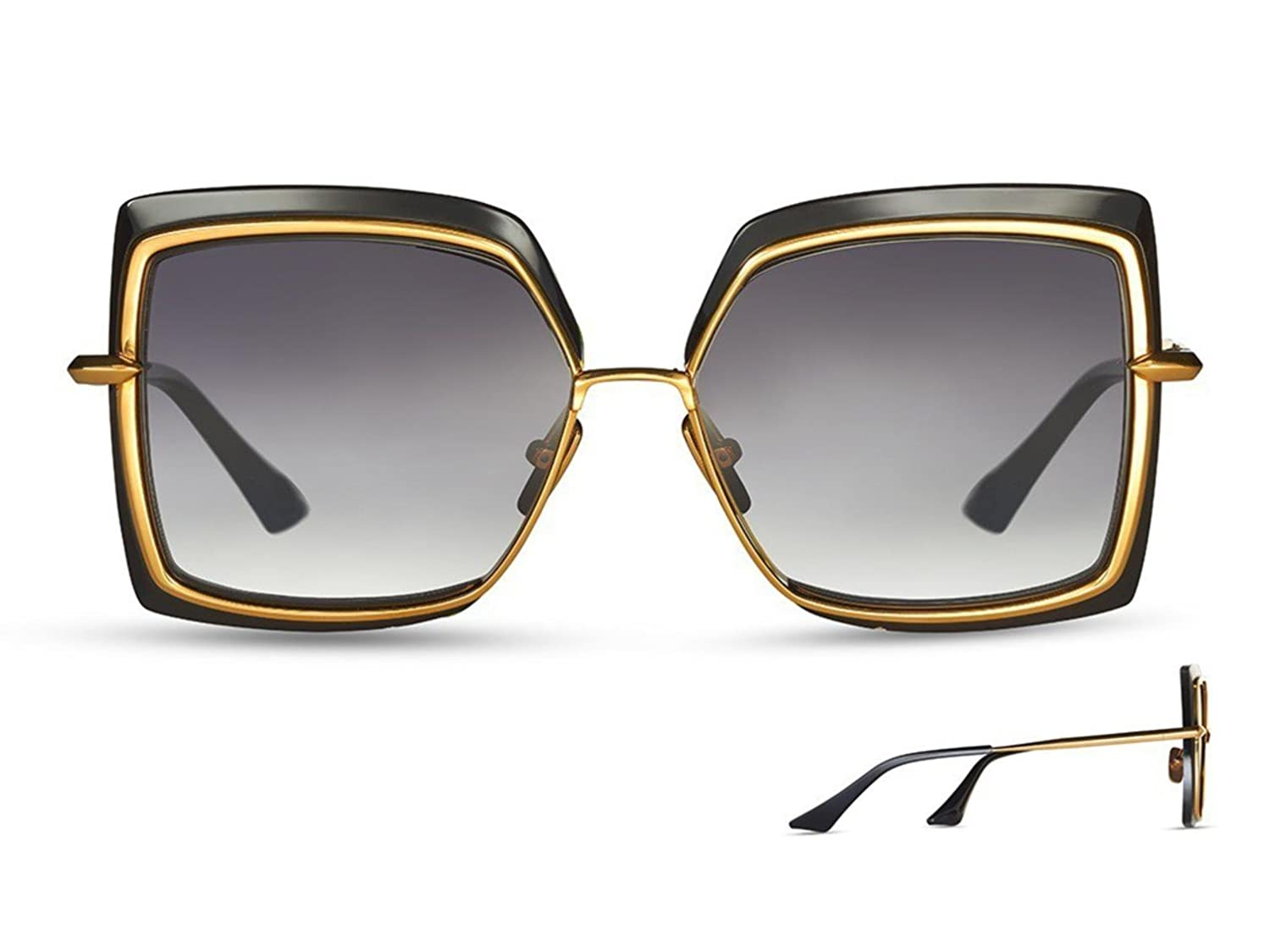 d93bc558cd9b2 Sunglasses Dita NARCISSUS DTS 503 01 Black-Yellow Gold w  Dark Grey to  Clear-AR at Amazon Men s Clothing store