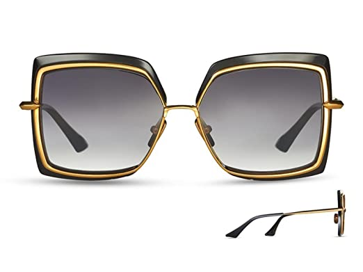 68eda1b0e8a6 Sunglasses Dita NARCISSUS DTS 503 01 Black-Yellow Gold w  Dark Grey ...