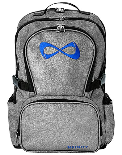 Nfinity Backpack with Logo, Sparkle Grey/Royal -