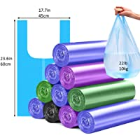 Trash Bags 4 Gallon Handle-Tie Small Trash Bag 100 pcs (Random Color)