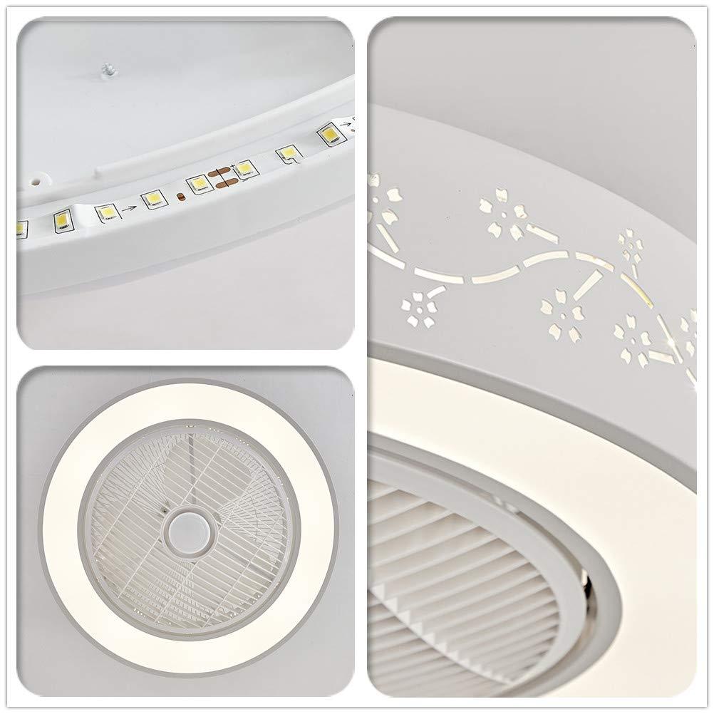 Moklo Runder Deckenventilator Kreative Fernbedienung Dimmbares LED-Licht Leiser 3-Gang-Deckenventilator f/ür das Kinderzimmer im B/ürorestaurant