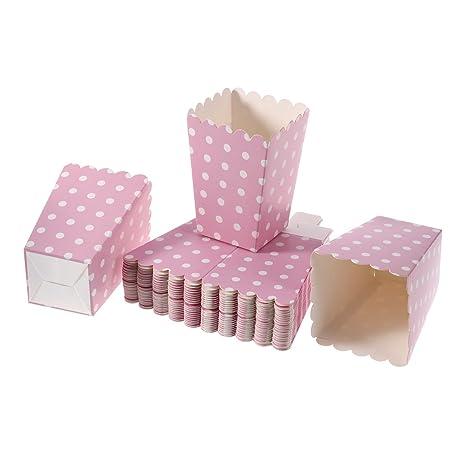 NUOLUX 24pcs compartimiento de las palomitas ponen las bolsitas de papel bocado diseño punto para las tablas del postre teatro de la película que ...