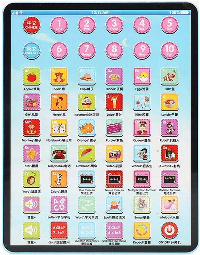 QiBest Kinder Touch Tablet Pad Lernen Lesemaschine Fr/üherziehung Spielzeug Schr/änke