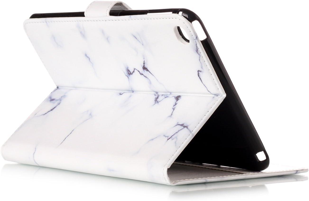 Herbests Compatible avec iPad Mini 4 Coque Ultra-Mince Flip Portefeuille 3D Effet Motif Color/é Peint Flip Wallet Housse Folio /à Clapet Protection Soft Leder,Vert