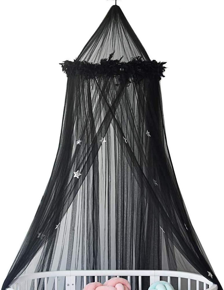 S-tubit Ciel de lit Enfant D/écoration Chambre Enfant en Rond de D/ôme Fille Gar/çon Maison Jeux Tente Moustiquaire pour lit Enfants B/éb/é Lovable