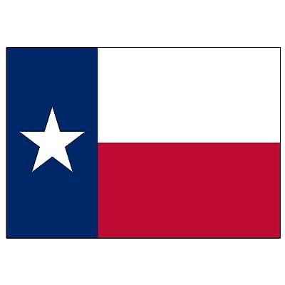 Texas State Flag Sticker Car Decal Bumper Sticker Lone Star Truck Window (3x5 Inch): Automotive