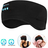 WU-MINGLU Jogging Sleep Headband Bluetooth Headphones (Black)