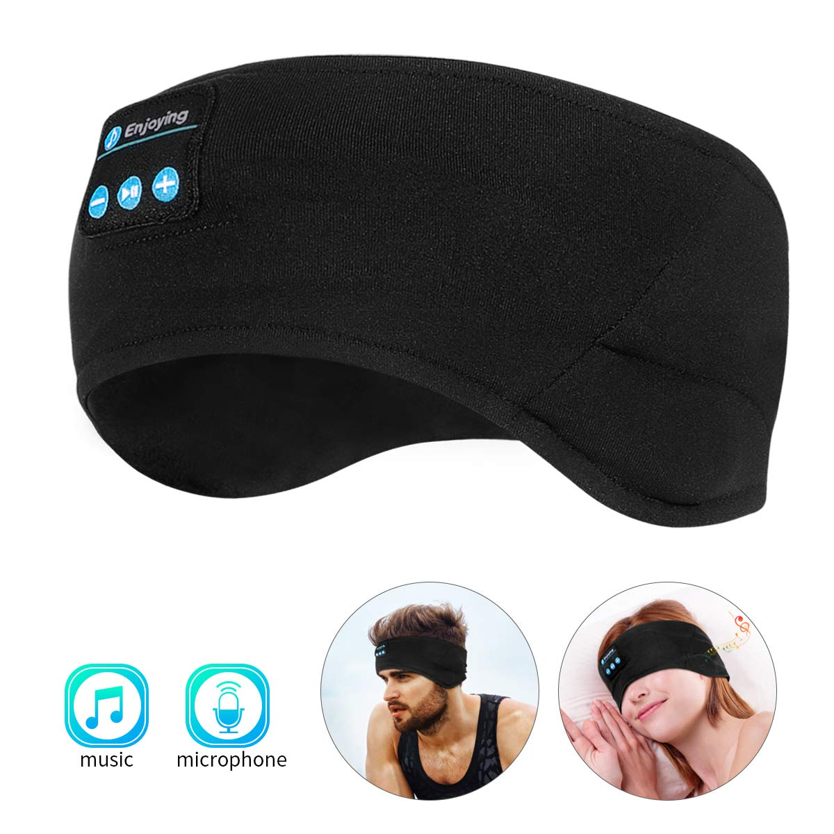 WU-MINGLU Bluetooth Headband Headphones for Sleeping, Running, Jogging Sleep Headband Bluetooth for Women Men