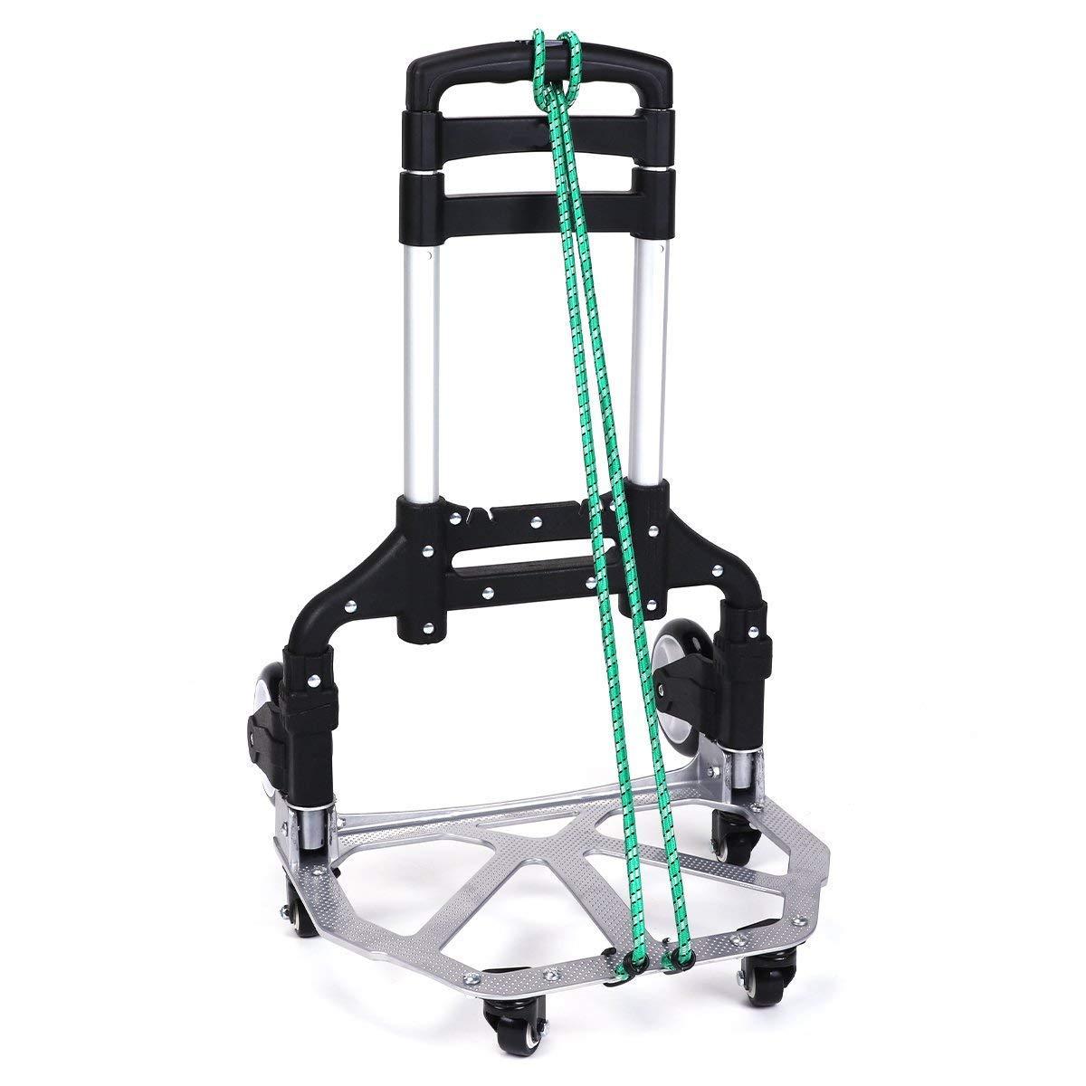 Amazon.com : ASdf Portable Aluminum Trolley Adjustable Height Casters Trolley Outdoor Travel Shopping Folding Trolley : Garden & Outdoor