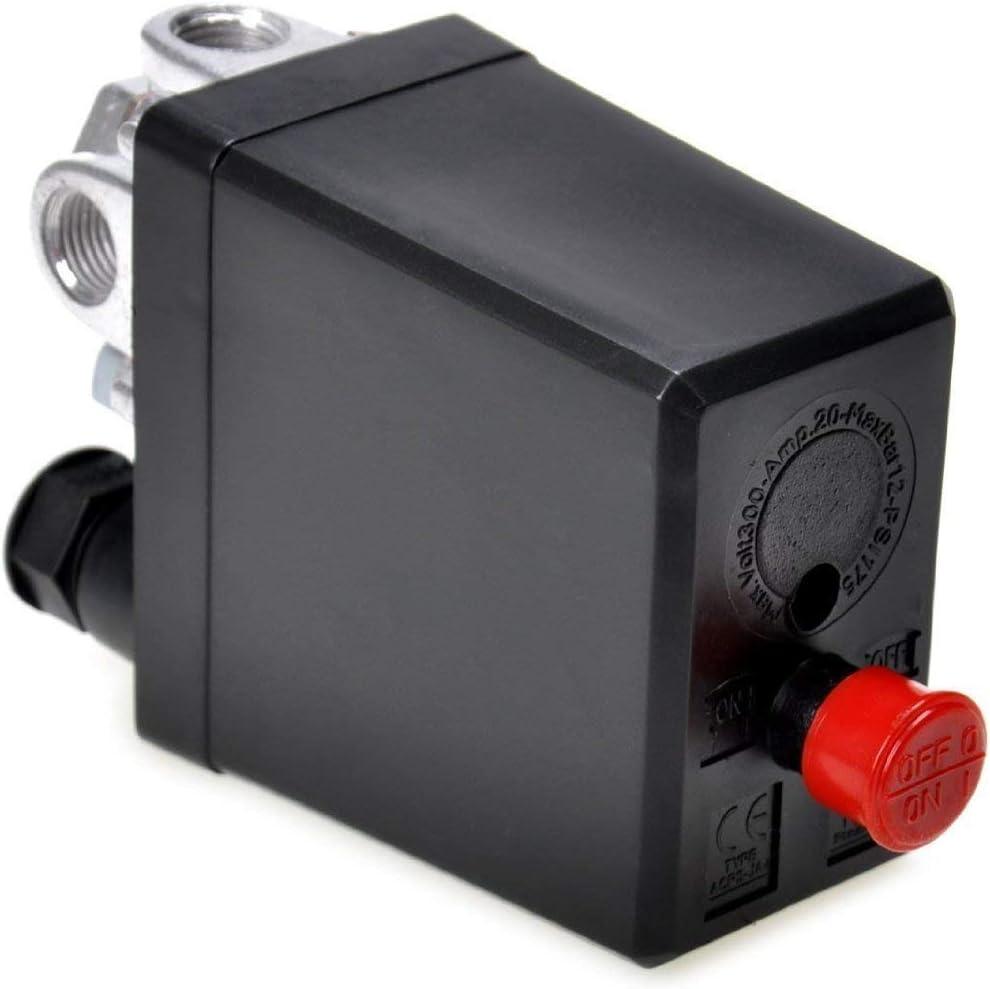 NYKKOLA Air Compressor Pressure Switch Control Valve 90-120 PSi 240V