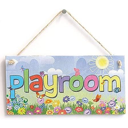 Cheyan Playroom - Cartel para niños - Hecho a Mano Shabby ...