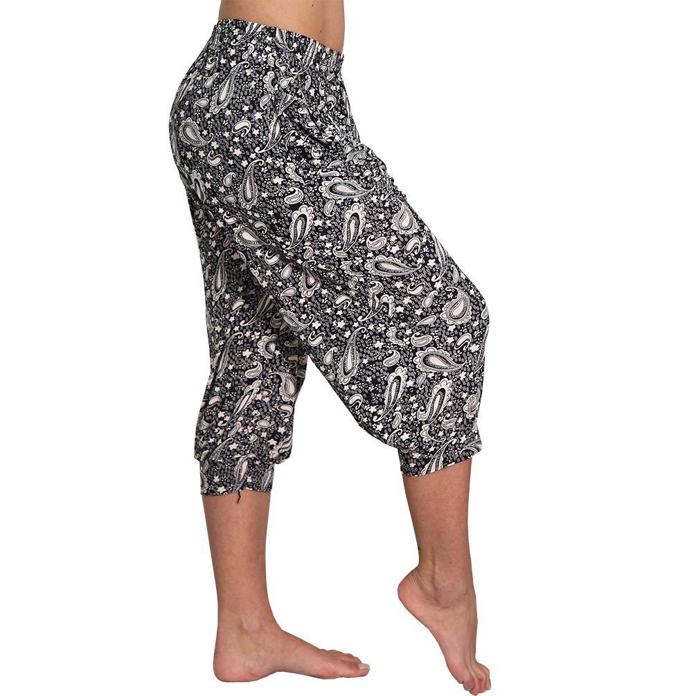 dise/ño de Palmeras Ligeros Candygirls Pantalones Pirata para Verano