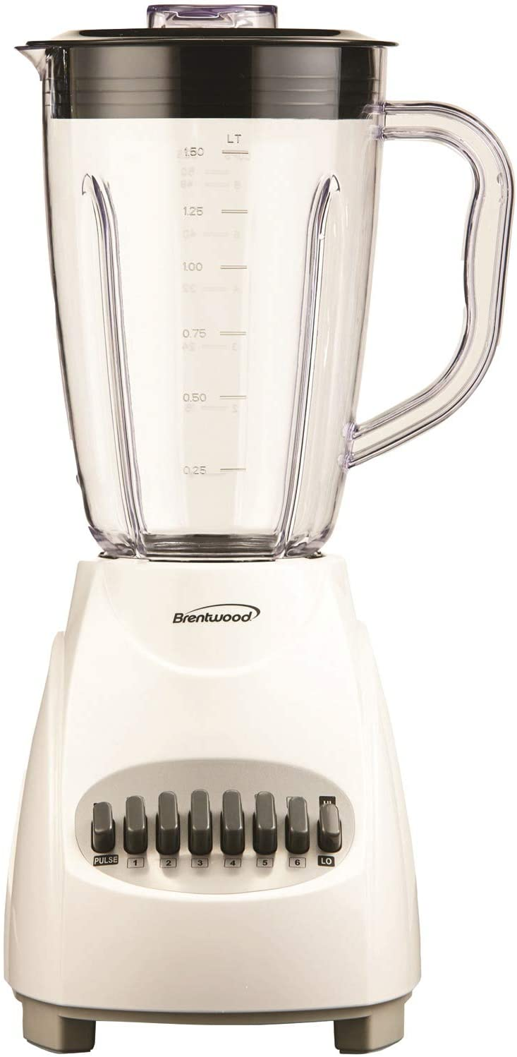 Brentwood JB-220W Blender 12-Speed + Pulse, Plus, White