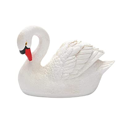 Boddenly Resin Swan Garden Fairy Flower Pot Water Ornament, Floating Swan Decoy, for Hunting, Fishing, Garden Decors, Realistic Ornament, Garden Yard Lawn Decorative Ornament, Resin Pond Goose Decor: Home & Kitchen