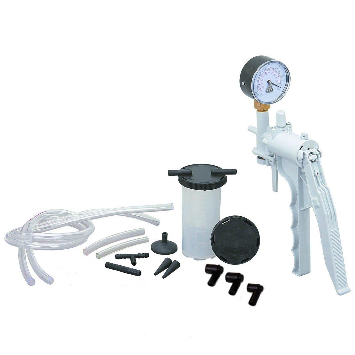 Brake Fluid Bleeder Hand Vacuum Pump Tester Kit w/ Adapters Case PMD Products 2002B