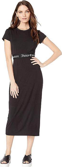Amazon.com  Juicy Couture Women s Juicy Jacquard T-Shirt Dress Pitch ... 1a499cb95