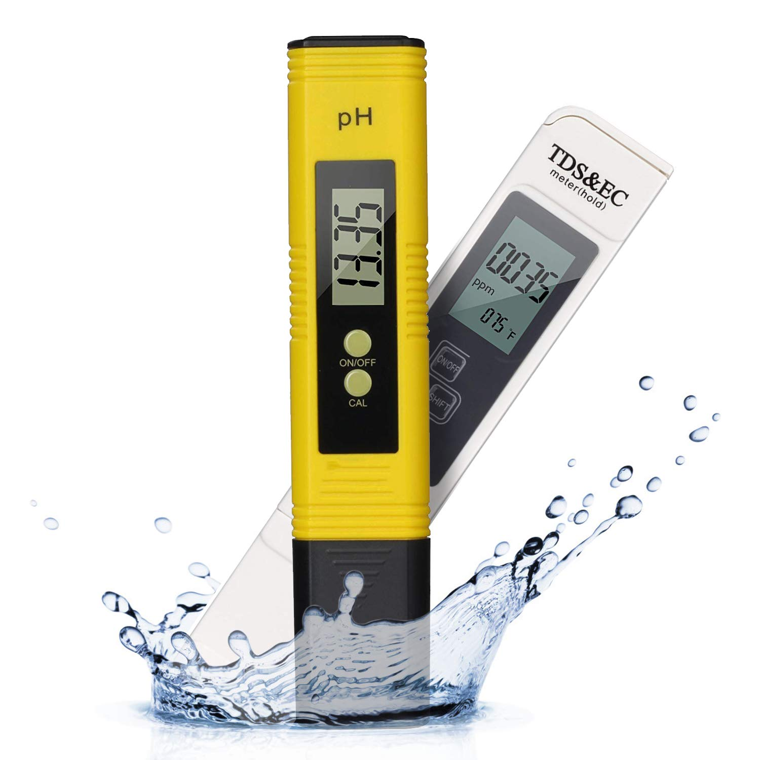 Digital PH Tester, PH Meter 0.01 PH High Accuracy Water Quality Tester with 0-14 PH Measurement Range,Ideal PH Strips for Waterr with Drinking, Aquariums, etc.