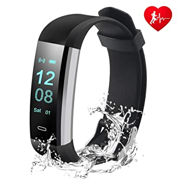HUSAN Fitness Tracker Activity Tracker Watch with Heart Rate Monitor,14  Exercise Modes Sleep Monitor,GPS Route Tracking Pedometer Step Counter