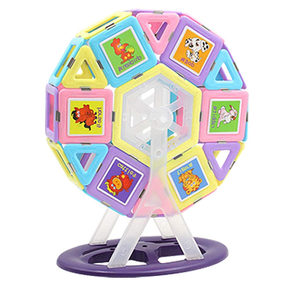 ZnMig Children 3-12 Years Old Building Blocks Children's Educational Toys Building Blocks Magnetic Toys Early Education Puzzle Building Blocks Toys (Color : Multi-Colored, Size : One Size)