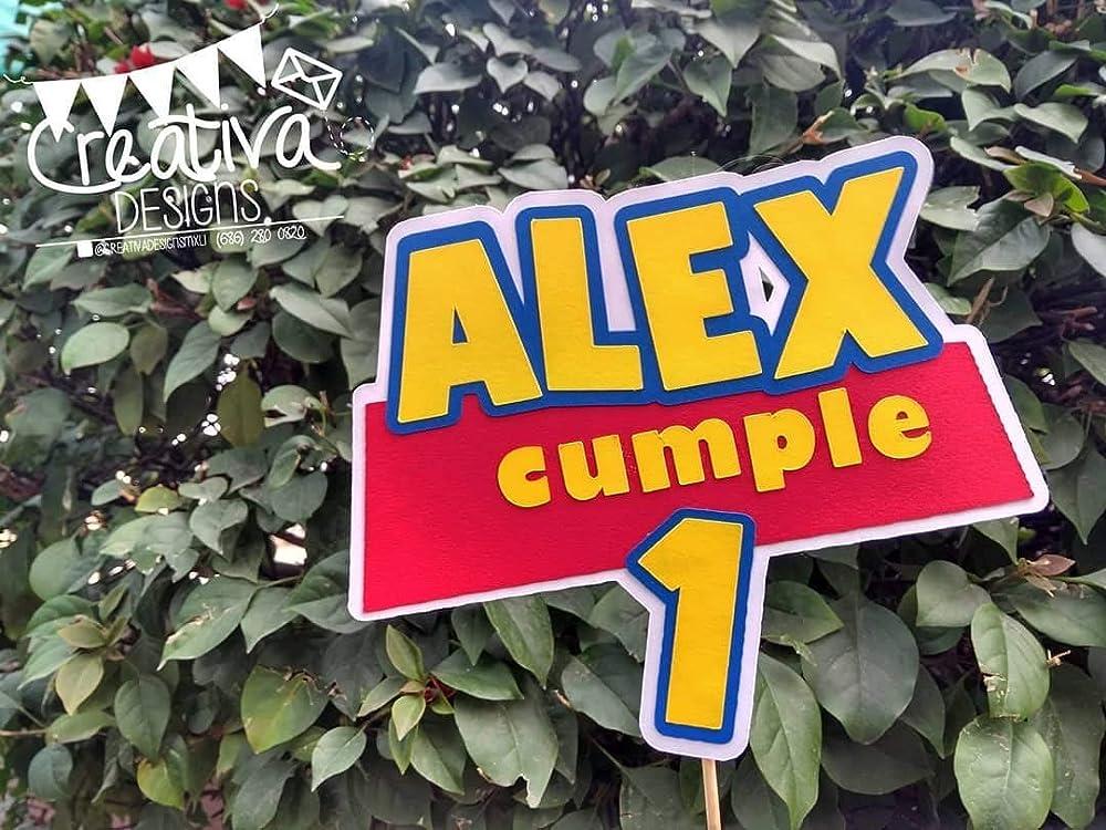 Cake Topper Personalizado Tema Toy Story Letrero Para
