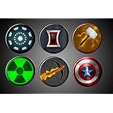 Amazon Com Justice League Movie Magnets Or Pins Dc Comics Superhero
