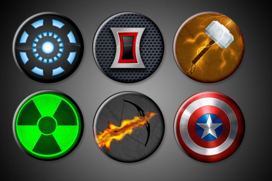 Amazon Avengers Symbols Magnets Large 175 Marvel Comics