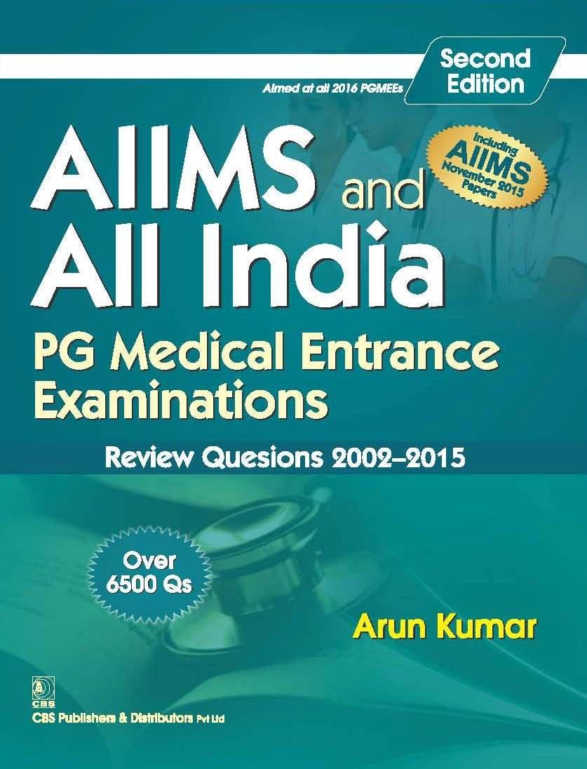 Buy AIIMS and All India PG Medical Entrance Examinations