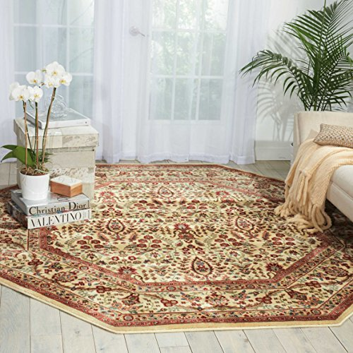 - Nourison Persian Arts (BD08) Ivory Octagon Area Rug, 7-Feet 9-Inches by 7-Feet 9-Inches (7'9