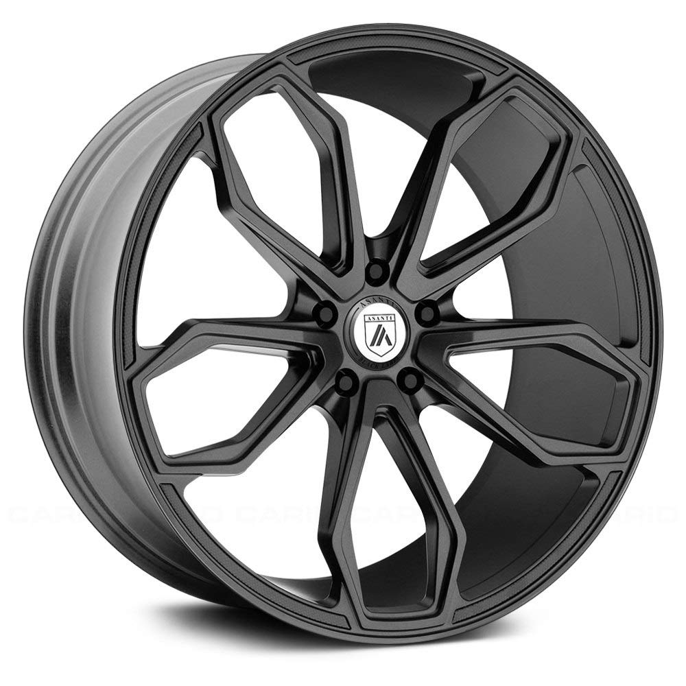 ASANTI BLACK ABL-19 ATHENA Matte Graphite Wheel with Gray and Chromium (hexavalent compounds) (20 x 8.5 inches /5 x 72 mm, 38 mm Offset)