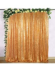 ShiDianYi 8 X 8, Ready to Dispatch,Gold Sequin Backdrops, Sequin Photo Booth Backdrop, Party Backdrops,Wedding Backdrops, Sparkling Photography Prop