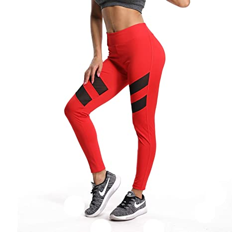 c59588bce1058 RIOJOY Yoga Pants for Women,High Waist Compression Fitness Sports Legging  Trousers 4 Way Stretch