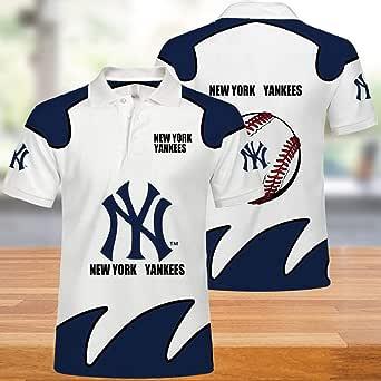 MLB New York Yankees Polo: Manga Corta Casual de Verano para ...