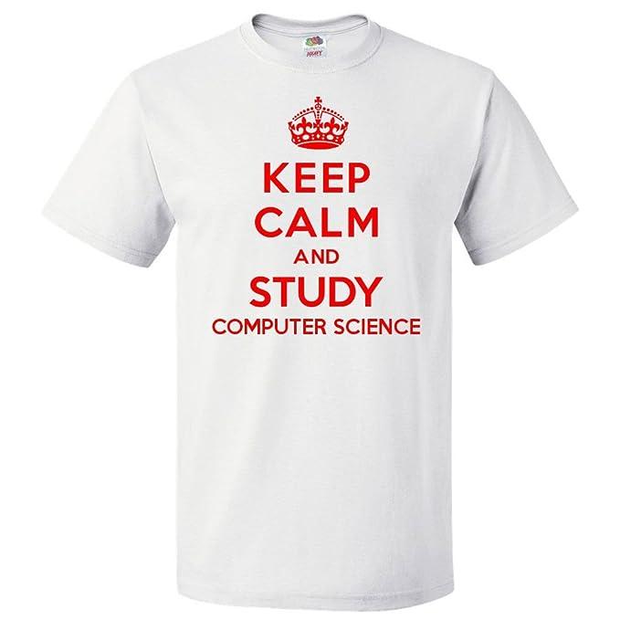 Amazon Com Shirtscope Keep Calm And Study Computer Science T Shirt