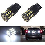 JDM ASTAR Super Bright AX-2835 Chipsets 7440 7441 7443 7444 992 LED Bulbs ,Xenon White (Only used for backup reverse lights)