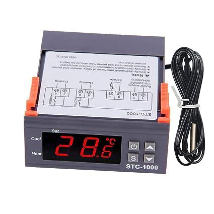 Diymore Stc-1000 - Termostato Digital Calefacción y Refrigeración regulador, Centígrados y Fahrenheit,