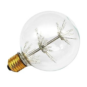 Edison - Bombilla LED G95 de 3 W, estilo antiguo, estilo vintage, con