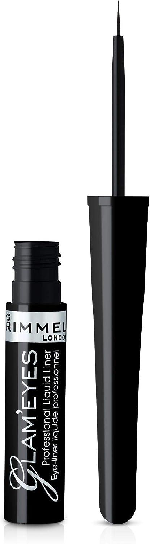 Rimmel London, Delineador Líquido tono 001 Black Glamour, 3.5 ml