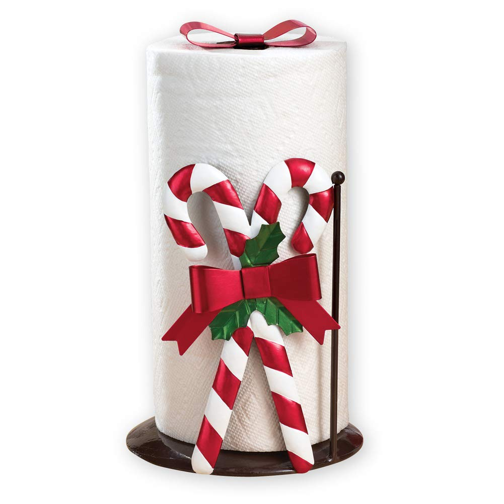 Christmas Kitchen Candy Cane Paper Towel Holder Winston Brands