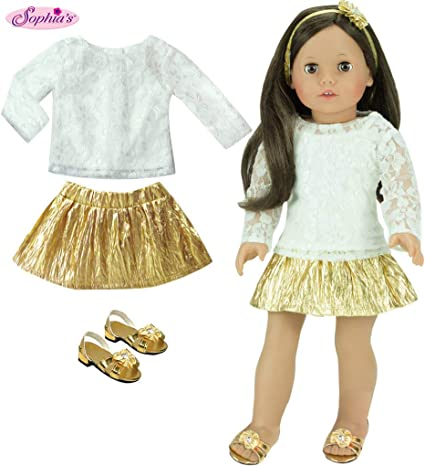 Ivory Sparkle Boot Shoes made for 18 inch American Girl Doll Clothes
